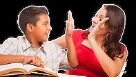 hispanic tutor and student hive five