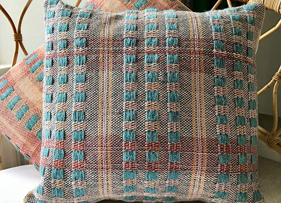 Pottergate No.1 Duckegg - Handwoven Cushion