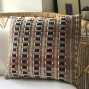 BURGATE No.1 Slate & Stone  This handwoven square cushion is from our 'Townhouse' collection inspired by Georgian architecture.  Front panel - Handwoven Textile Back Panel:  Plain Cotton Fabric  One-of-a-kind piece.  £70.00 - cushion cover only
