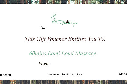 60 Minute Lomi Lomi Massage