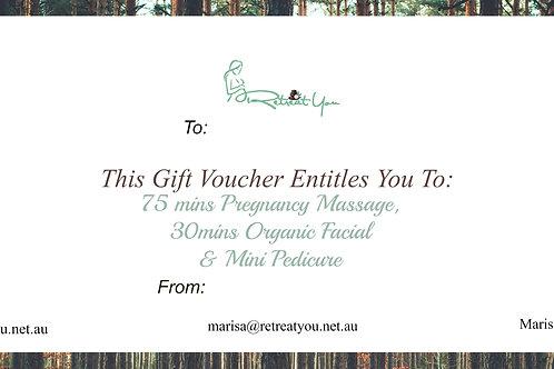 Gift Certificate Pregnancy Pamper Package
