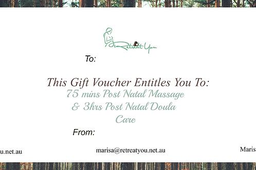 75mins Post Natal Massage & 3hrs Post Natal Doula Care/ Nurturing Newborn Mums