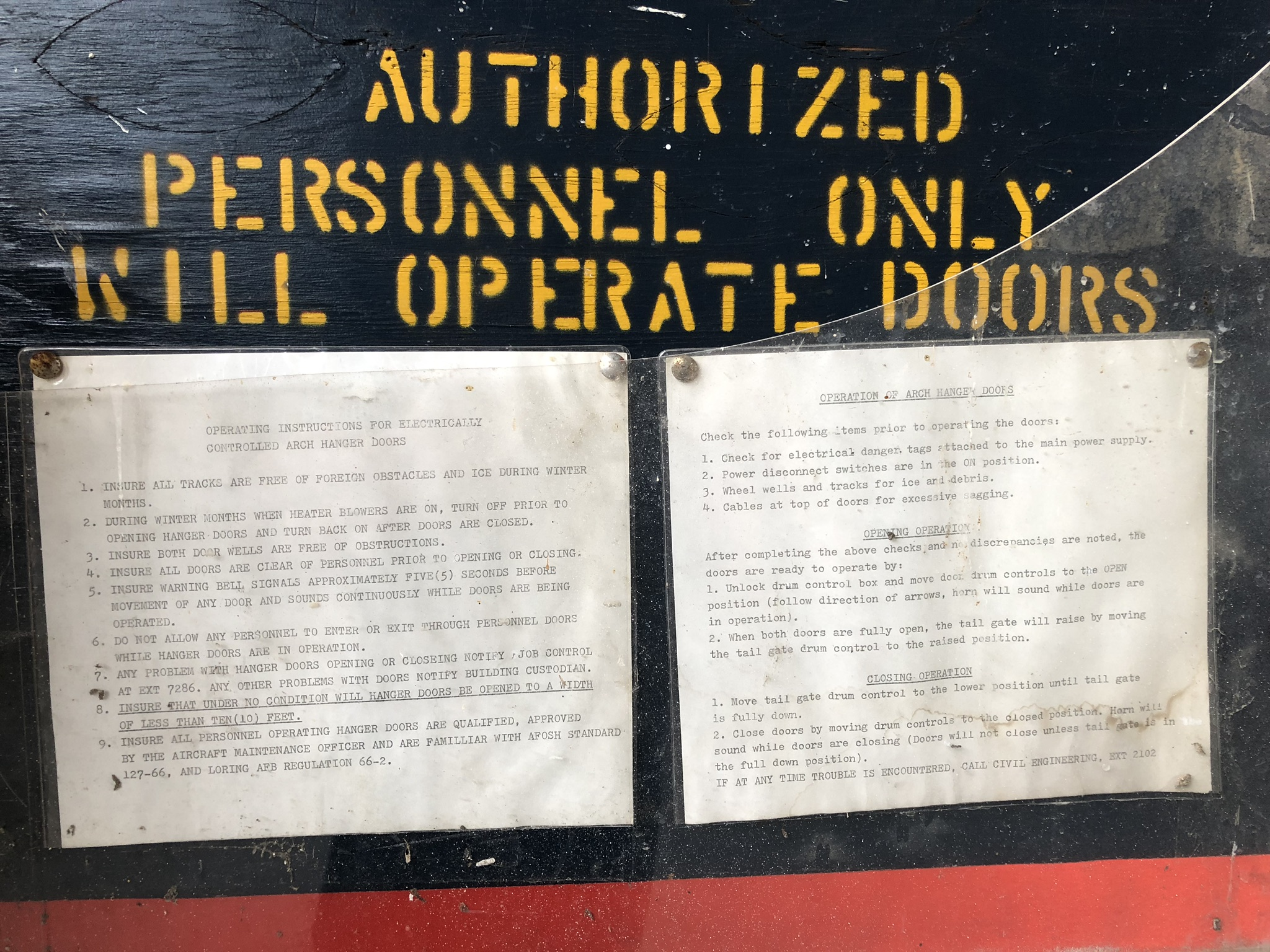 Arch Hangar Door Instructions