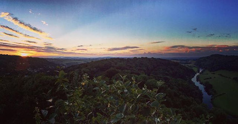 Sunset at Symonds Yat Rock