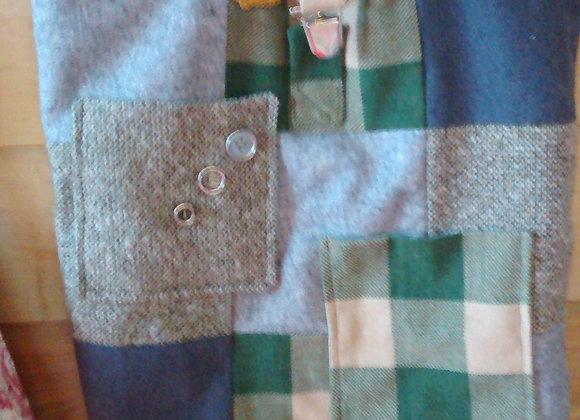 Sac cabas vert façon patchwork
