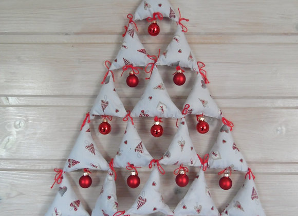 Sapin de Noël en triangles