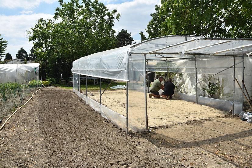 Grand Jardin x L 4.50m   Aérations  latérales