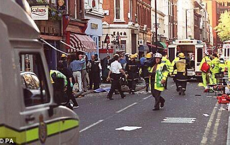 Soho nail bombings remembered 21 years on.