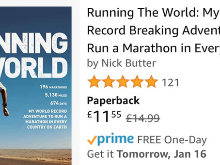 Running The World – My Best Selling Book.  Becoming the first person to run a marathon in ever