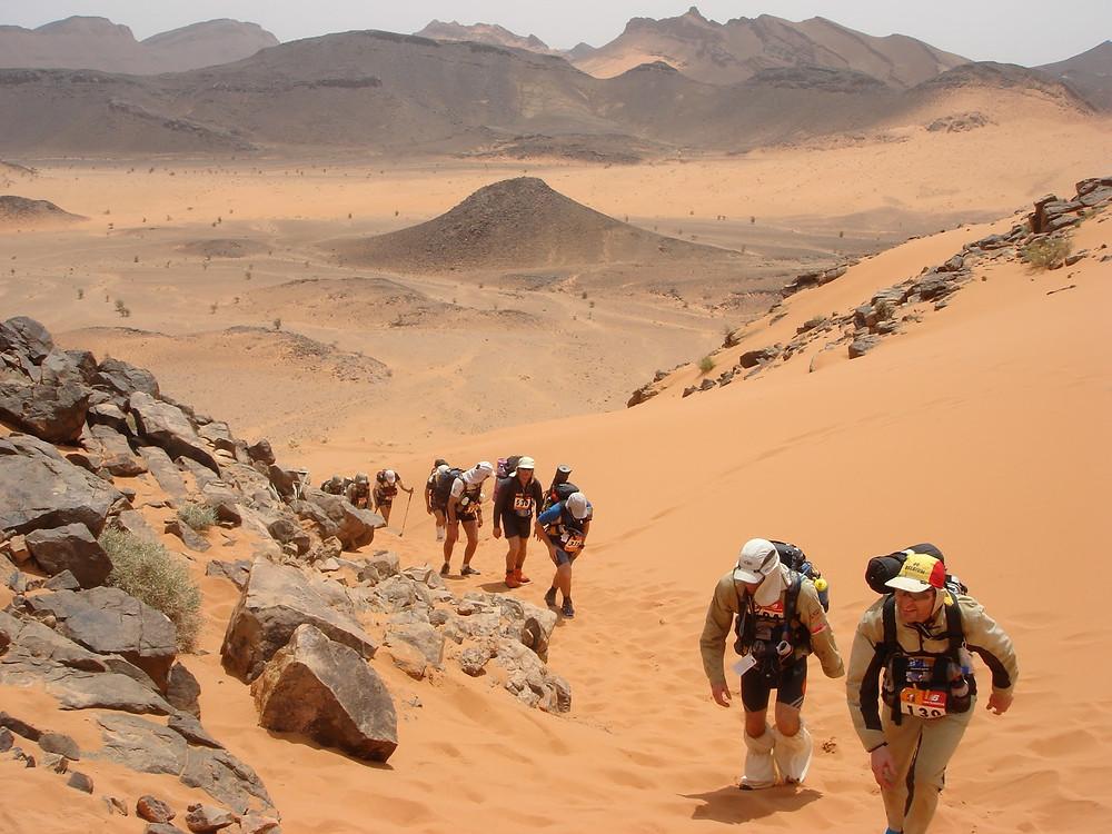 Day 3 - long climb into dunes
