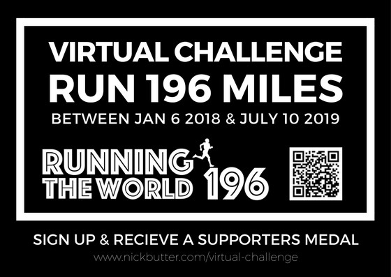 RUN 196 MILESBetween Jan 6 2018 & July 10 2019