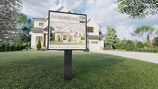 1241 Heather Lane - Sign Artwork Render