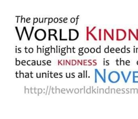 13th November - World Kindness Day 2020