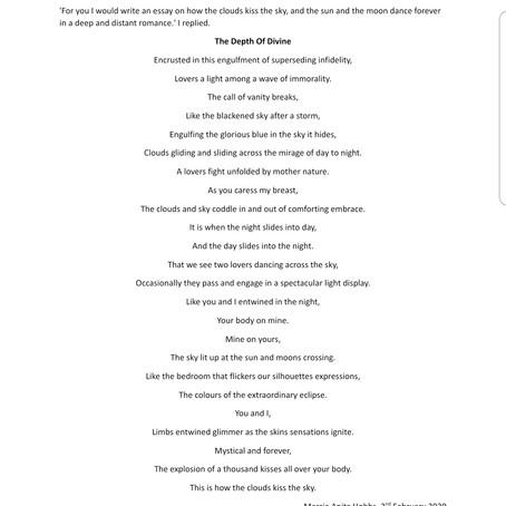 'Write me a poem' he said.