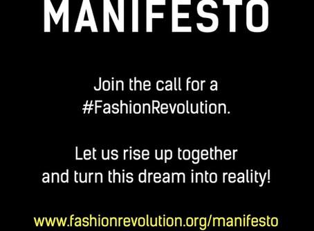 The Fashion Revolution Manifesto - A Better World