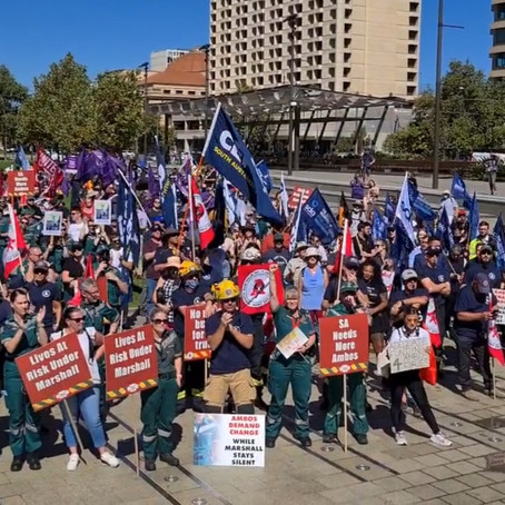 Protest Ambos & Firies 1st April 2021