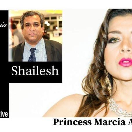 Shailesh with Princess Marcia