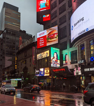 Halloween New York Times Square Billboard