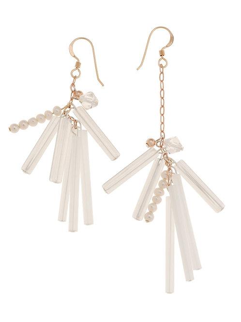 Choupette Pearl Crystal Earrings