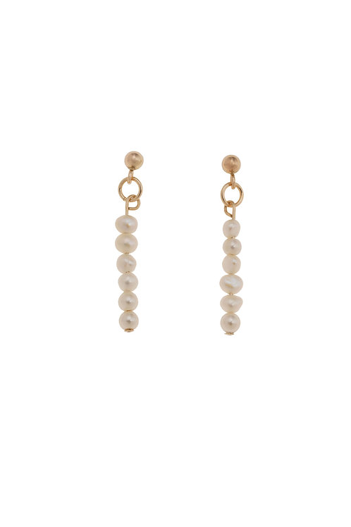 Nicola Gold Pearl Earrings