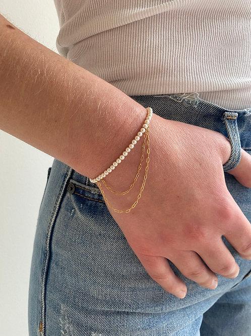 Franca Mini Rose Gold Pearl Draped Bracelet