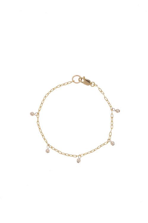 Whitney Gold Pearl Chain Bracelet