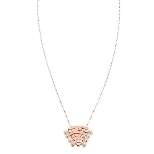 Coco Pearl Rose Gold Necklace