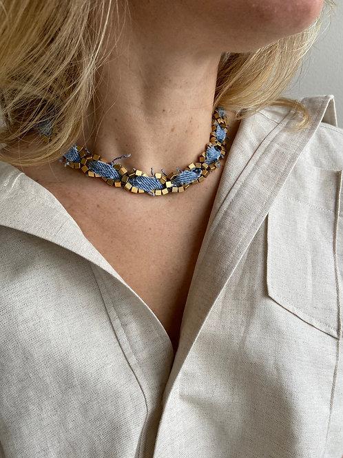 Chiara Gold Vintage Levi's Denim Necklace