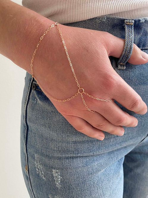 Beatrice Rose Gold Hand Chain