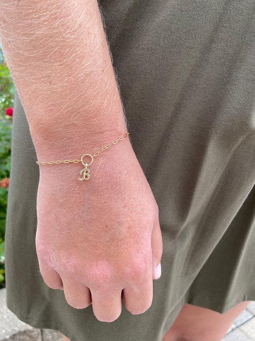 May Mini Gold Initial Charm Bracelet