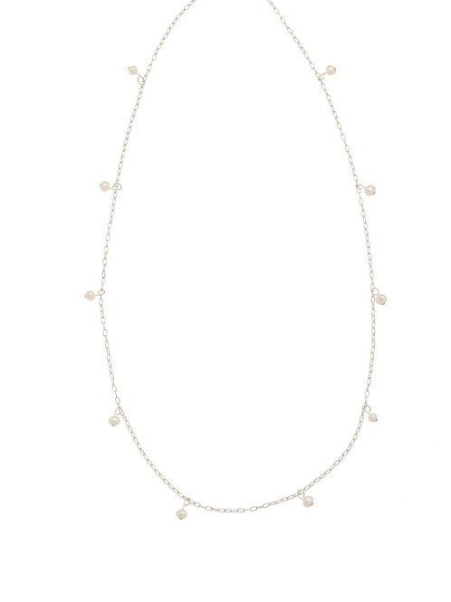 Whitney Silver Pearl Necklace