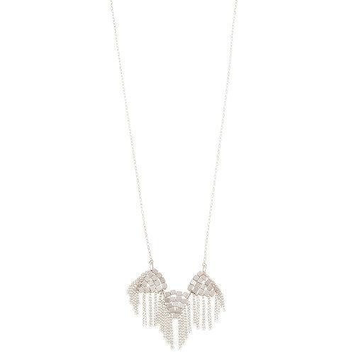 Balara Sterling Silver Fringe Necklace