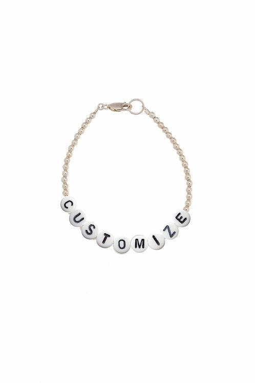 Giulia Customize Sterling Silver Bracelet