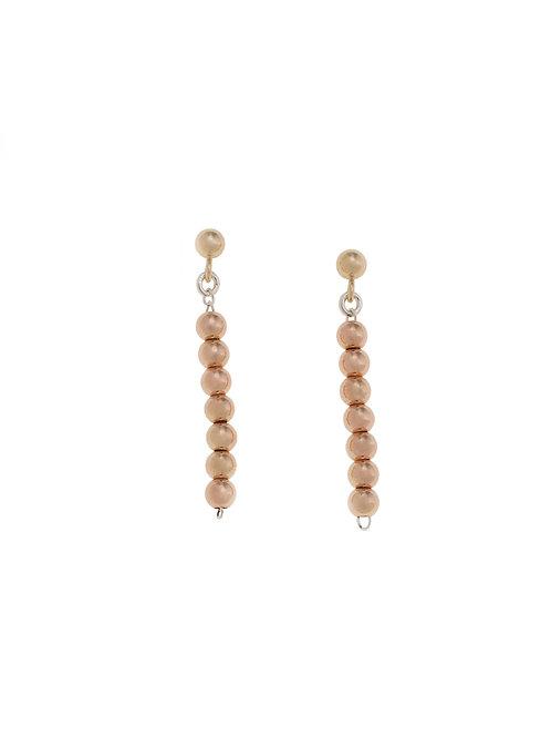 Nicola Rose Gold Beaded Earrings