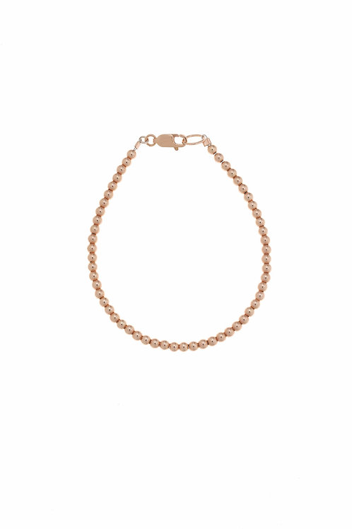 Franca Mini Beaded Rose Gold Bracelet