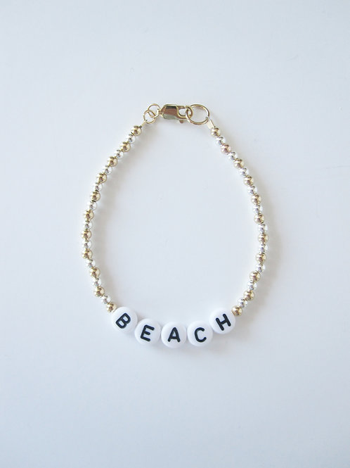 Giulia Gold Silver Beach Bracelet