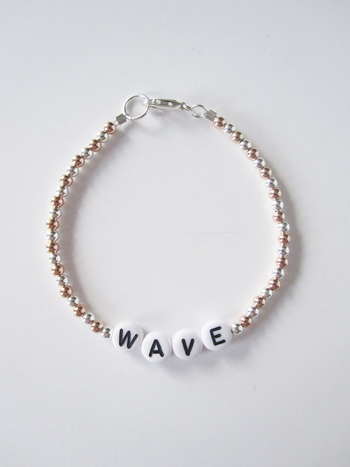 Giulia Silver Rose Wave Bracelet