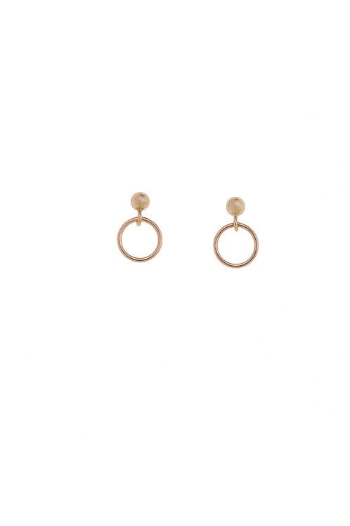 Marcella Rose Gold Mini Hoop Earrings