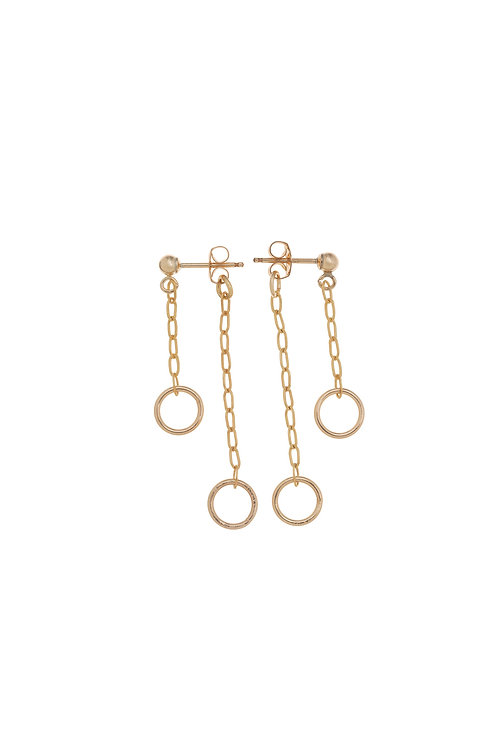 Mona Gold Mini Hoop Earrings