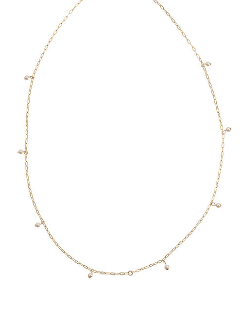 Whitney Gold Pearl Necklace