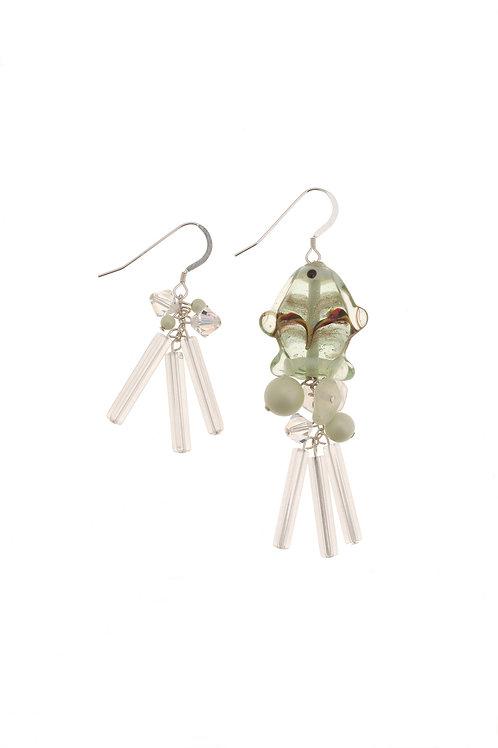 Pesca Swarovski Crystal Fish Earrings