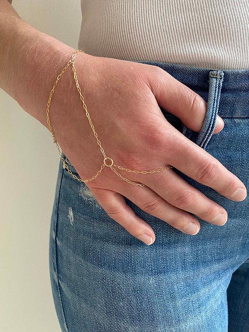 Beatrice Gold Hand Chain