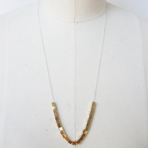 Cate Gold Brass Beaded Necklace