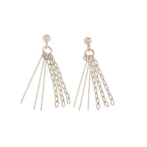 Nora Sterling Silver Tassel Chain Earrings