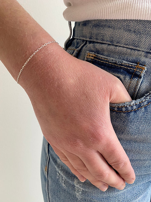 Cory Sterling Silver Chain Bracelet