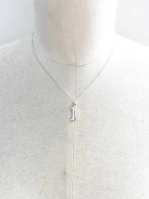 #1 Large Sterling Silver Charm Necklace