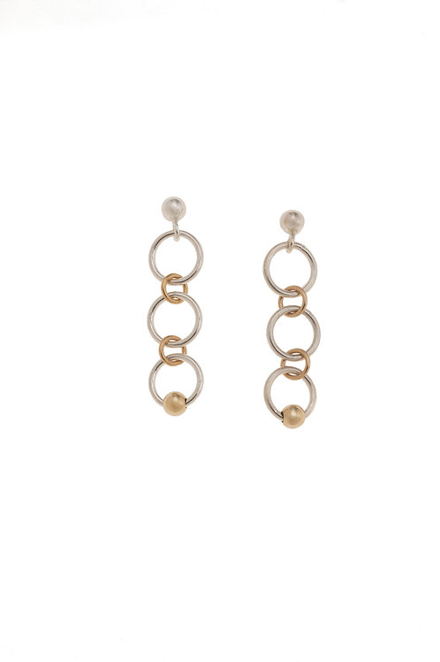 Fiora Sterling Silver Mini Hoop Earrings