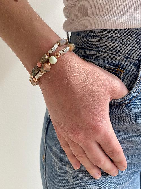 Reece Rose Gold Stone Bracelet