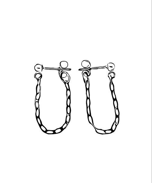 ear_huggie_chain_earrings_sketch_blackan
