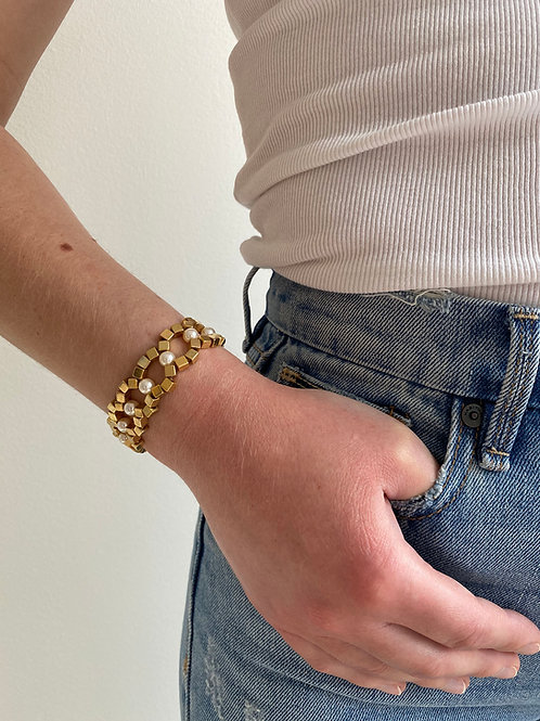 Chiara Gold Pearl Bracelet